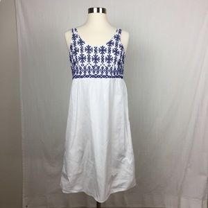 NWT Beach Love Lounge White Embroidered Dress